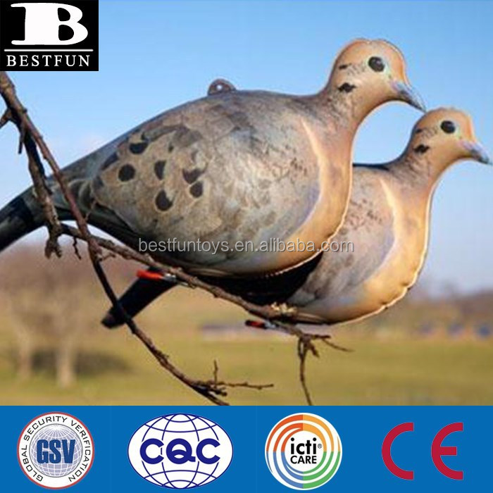 China custom made cherokee sports inflatable pigeon dove decoys plastic bird hunnting decoys for sale