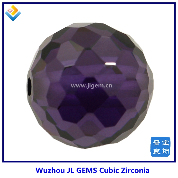 Synthetic Lab Created Dark Amethyst/Amk Facet Ball Cubic Zirconia with Price of CZ Gemstone
