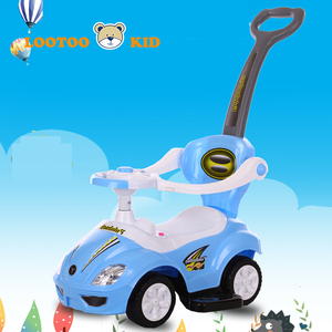 Alibaba china factory hot selling light and music toy non electric kids toy car with push handle