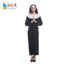 Mulher adulta sexy nun cosplay fancy dress costumes