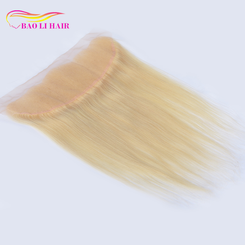13x6 #613blonde ear to ear full lace frontal closure stretch silky straight wave european virgin remy human hair cuticle aligned, N/a
