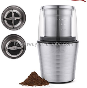 Electric Spices and Coffee Grinder Two Detachable Cups for Wet/Dry Food, Powerful Stainless Steel Blades