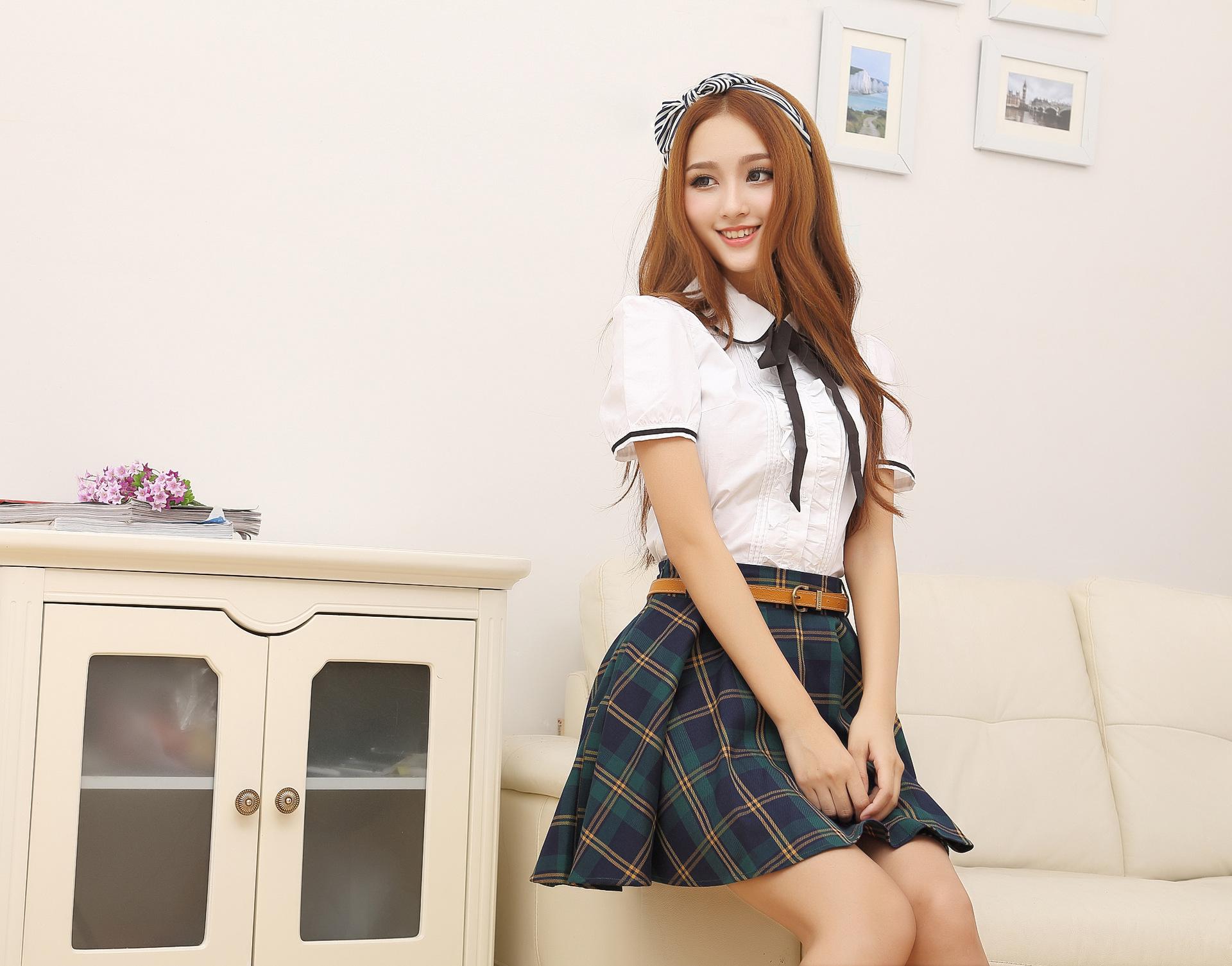 6a49dc84253 Compre Uniforme De Niña De Escuela Japonesa Falda De Uniforme De ...