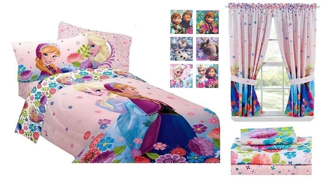 Buy Disney Frozen Floral Breeze Twin Bed Bedroom Bundle Comforter And Twin Sheet Set 1 Pr Window Curtains And Bonus Sticker Pack In Cheap Price On Alibaba Com