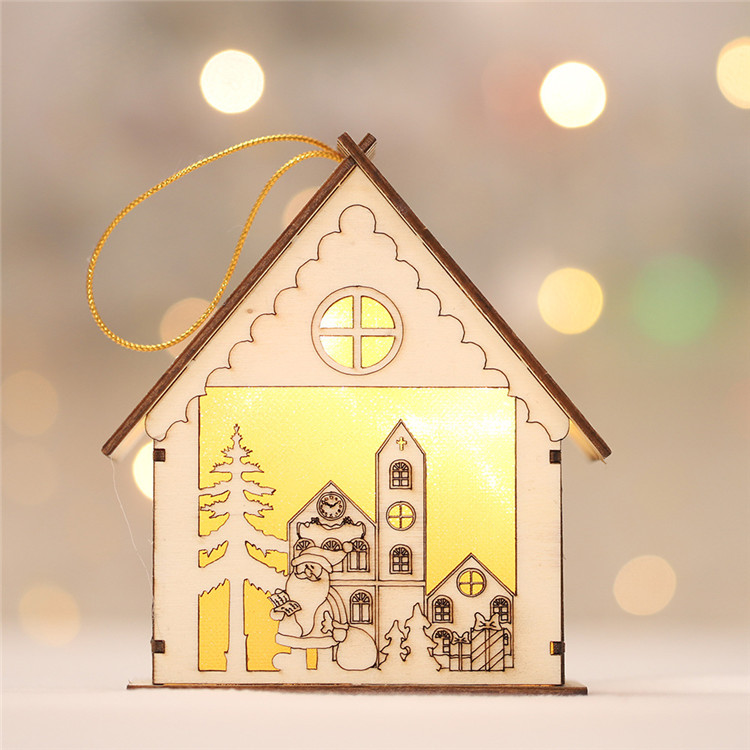 Hotel Shopping Mall Window Decoration Arrangement Background Light Cabin Christmas Tree Pendant Christmas Decoration