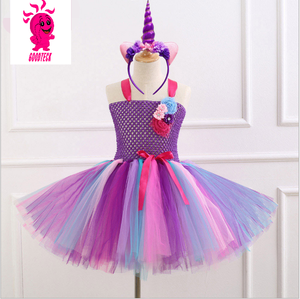 2018 Persnickety rainbow tube top tutu dress fancy girls tube party dress tutu dress