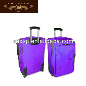 polyester wheels trolley korea and japan travel luggage
