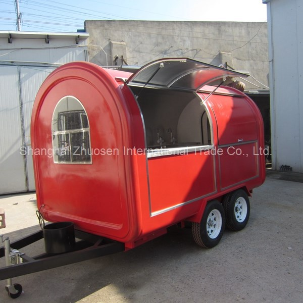 Quick Delivery Trailer Model Food & BBQ Cart Freezer Trailer for Sale ZS-FT350 D