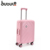 BUBULE Carry On Size Trolley Travel Bag Pink Luggage Suitcase