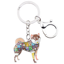 Брелок для ключей Bonsny, металлическая эмалированная сумка для ключей от шибы ину, аксессуары для собак, Подарочные модные украшения для живо...(Китай)