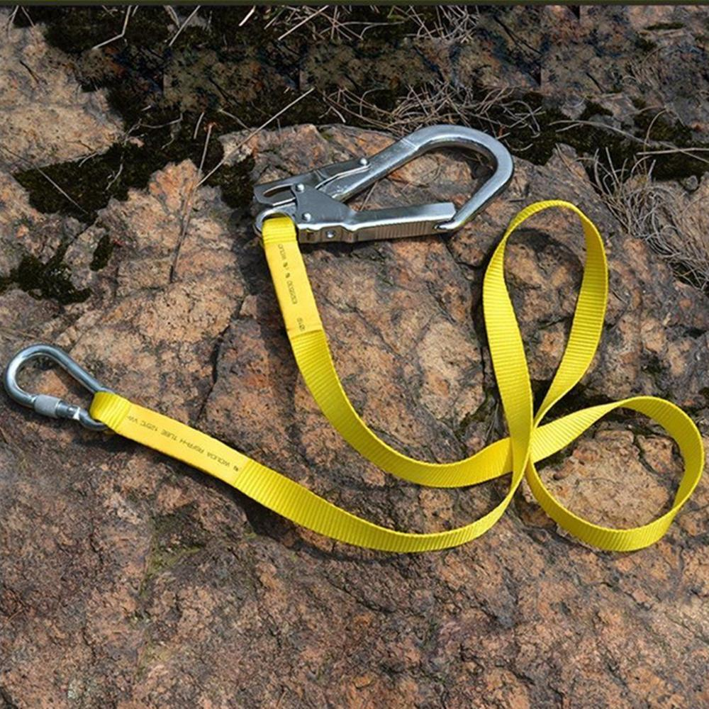 Outdoor Climbing Harness Safety Belt Lanyard Fall Protection Rope With Large Snap Hooks