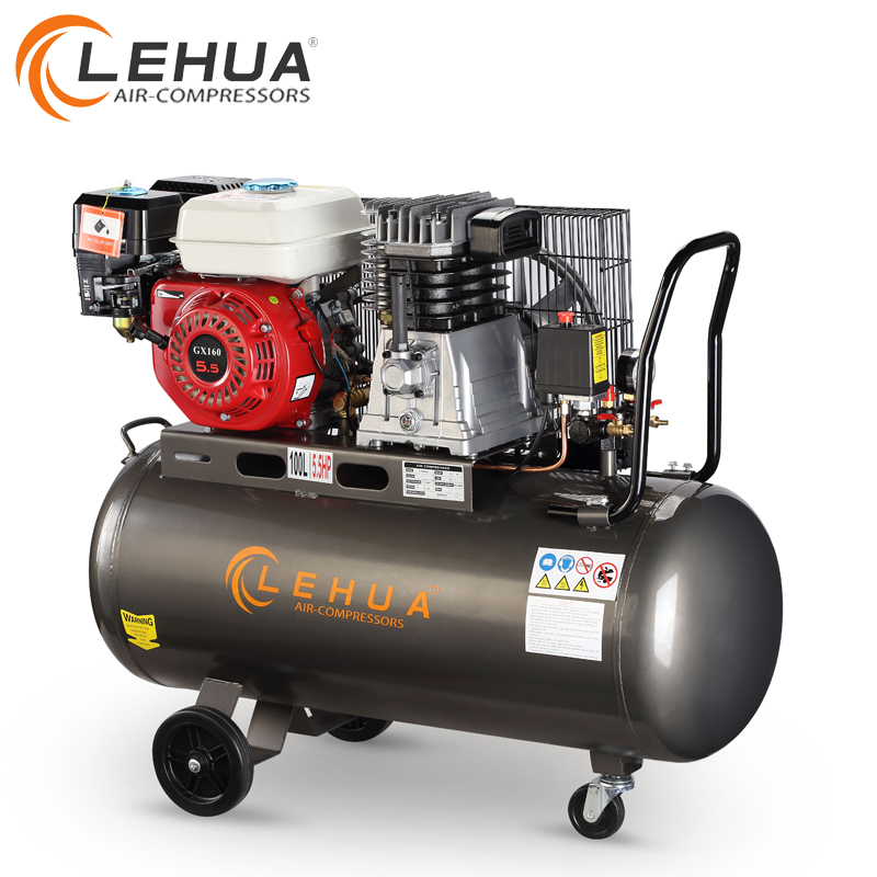 5.5hp 100liter gasoline engine air compressor without motor