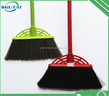 wooden floor dust cleaning plastic broom witch broom high quality