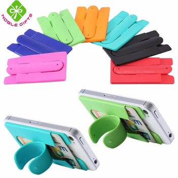 Good design customize foldable silicone mobile phone card holder