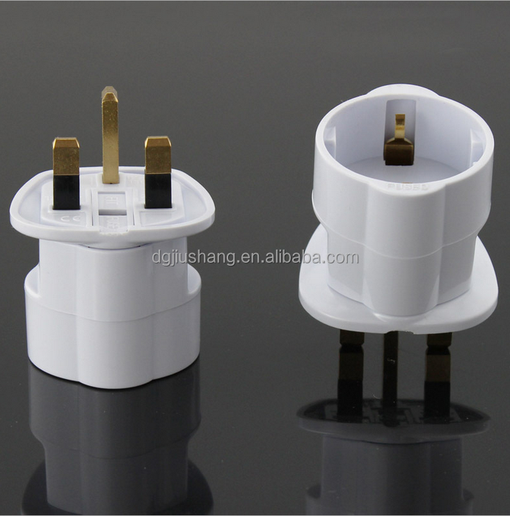 2017 wholesale electronics adapter German French to UK converter 250V plug and socket ST-5