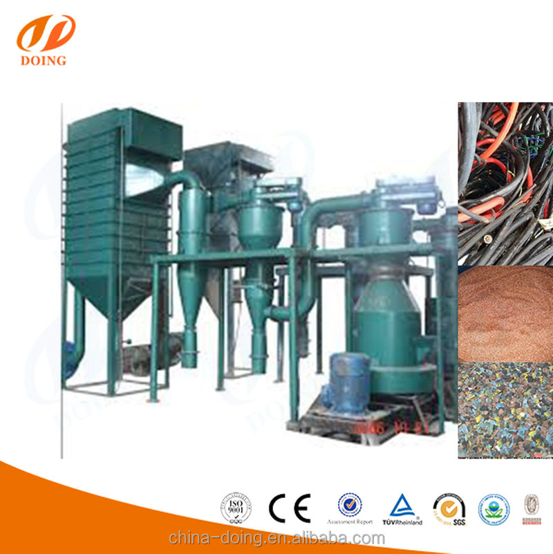 High Recover Rate Waste Copper Wire Recycling Machine Plant Scrap copper cable recycling machine