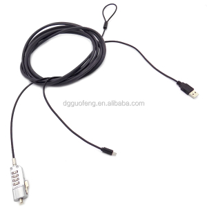 Customized 4 Digital USB Laptop Security Cable Lock for Computer