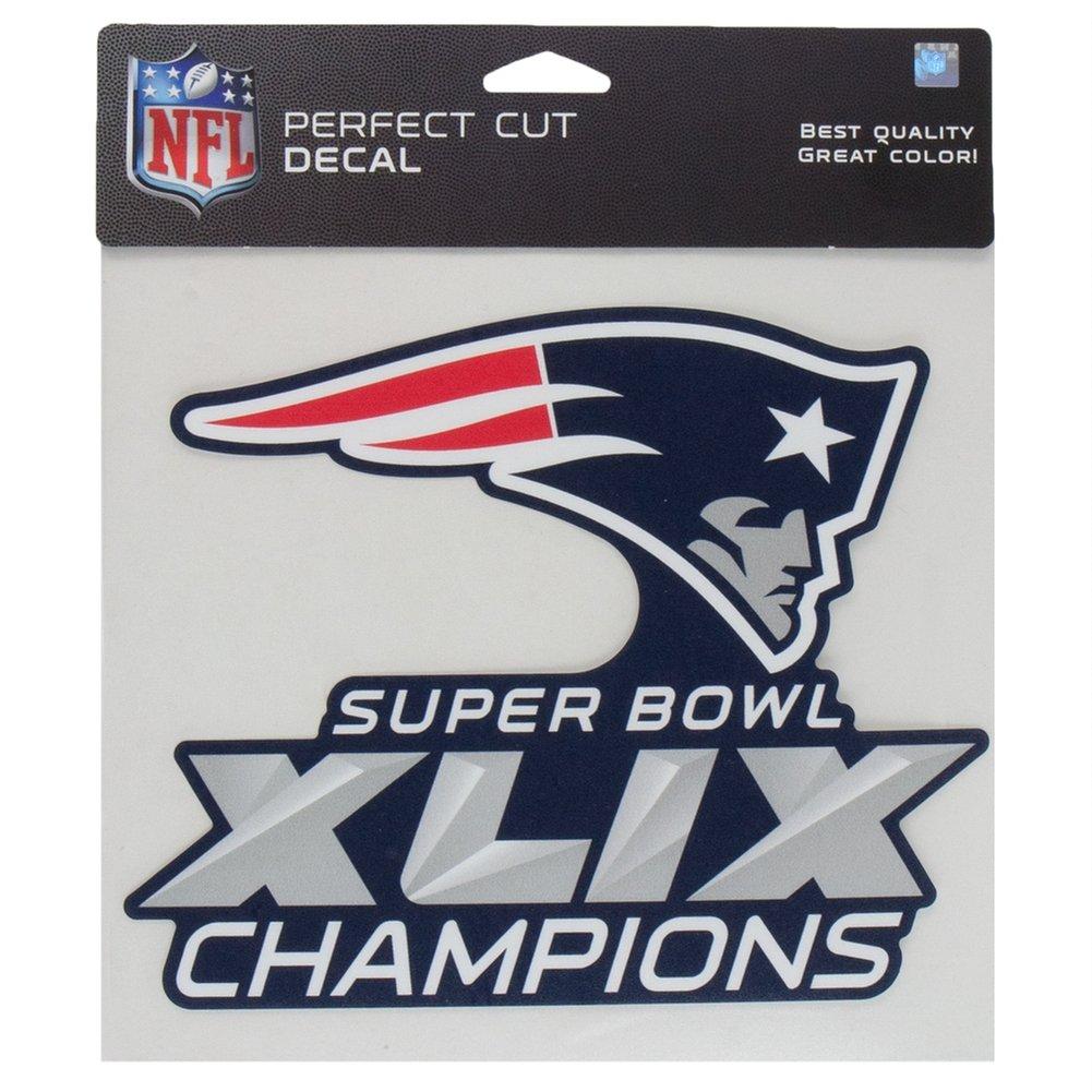 New England Patriots 2015 Super Bowl XLIX Champions 8 x 8 Perfect Cut Decal