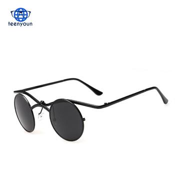 7f383b93d8c7 2017 New Fashion SteamPunk Gothic Vampire Style Sunglasses Men Brand Design  Vintage Sun Glasses