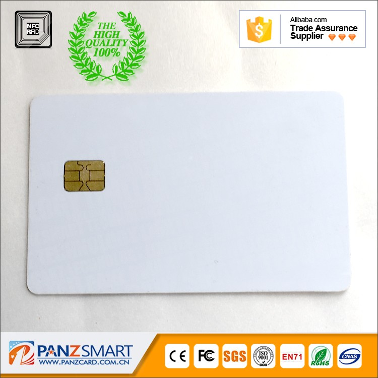 PVC contact smart IC card with SLE4442 chip 2-3tracks HiCo magnetic stripe