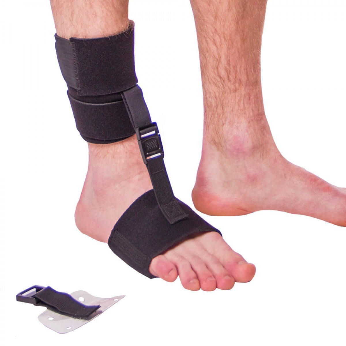 Soft AFO Foot Drop Brace   Ankle Foot Orthosis Keeps Foot Up for Dorsiflexion Assist, Improved Gait, Prevents Cramps (L/XL - Fits Right or Left Foot)