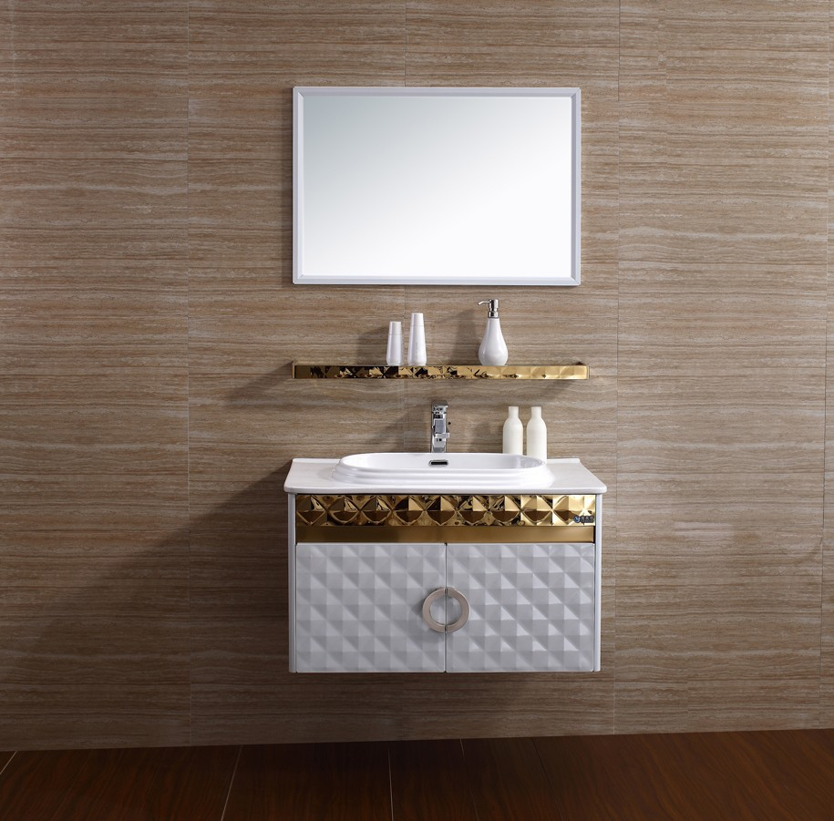 Stainless Steel Corner Bathroom Sink Cabinet French Bathroom ...