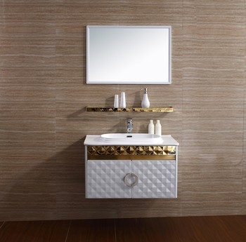 Stainless Steel Corner Bathroom Sink Cabinet French Bathroom Vanity Cabinet  T 081