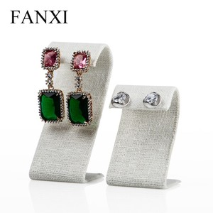 FANXI custom cheaper S model linen jewelry display set earring stand hanger for showcase earring display stand