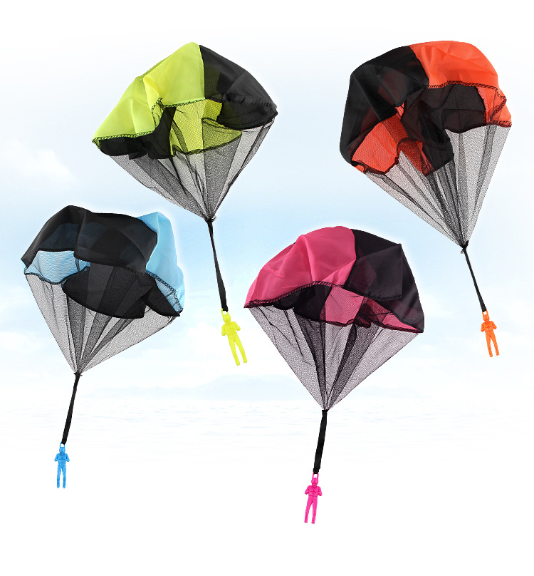 Wholesale Hand Throwing Mini Play Parachute Paratrooper Outdoor Games Children Educational <strong>Toys</strong> with Figure Soldier for Kids