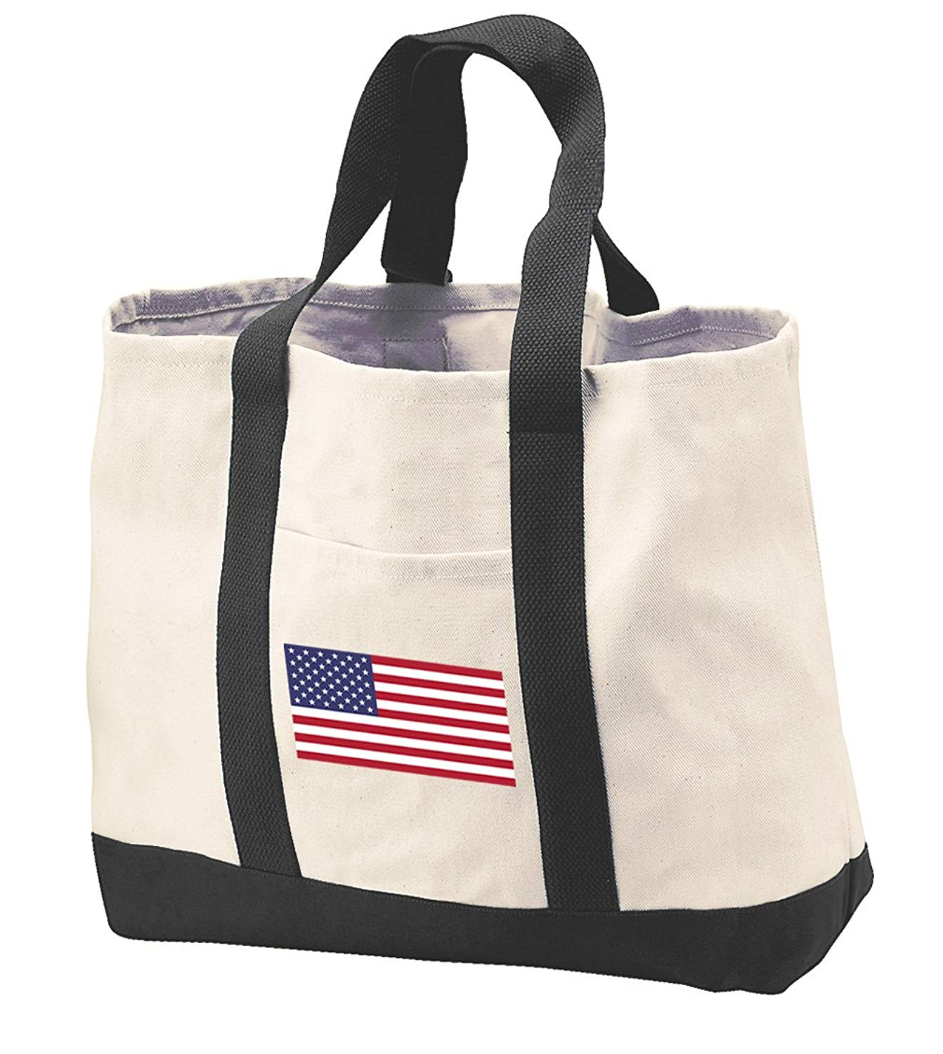 American Flag Tote Bag CANVAS American Flag Totes Beach Pool Travel Shopping Bag