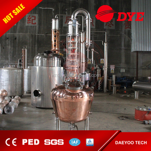 50L or 100L Stainless Steel and copper home Alcohol Distiller/Distillation Boiler With Custom Tri Clamp Ports