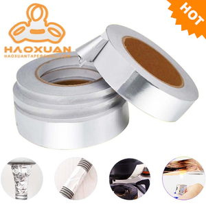 Non-flammable Aluminum Foil Masking Washi Paper Craft Heat Resistant Exhaust Tape 0.5mm Thick