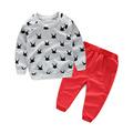 2016 New Cute Polka Dot Girls Baby Tops T shirt and Casual Pants Long sleeve Pullover