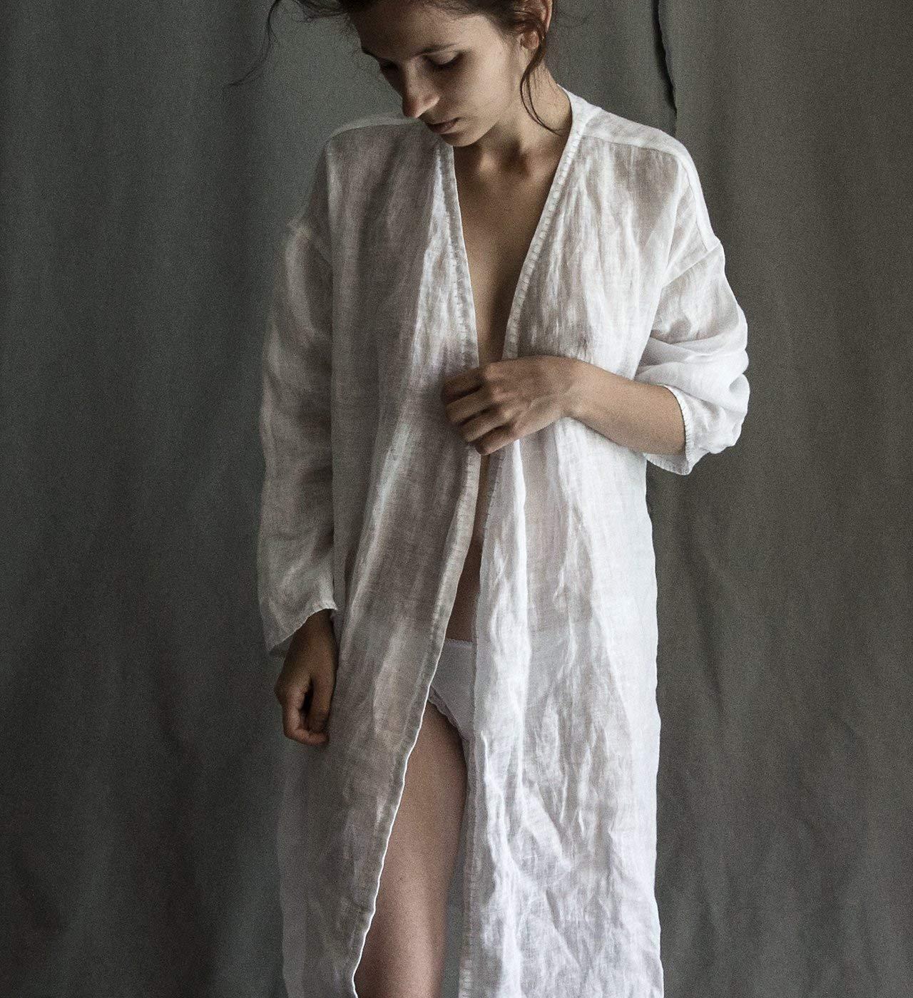 ab37338e3c3 Linen robe linen gauze robe linen pyjama linen home wear linen suit lounge wear  linen women s