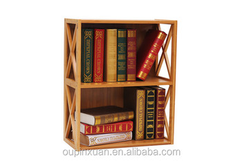 New Design Bookcase With Study Table Mdf Bookcase 2 Layers Bamboo