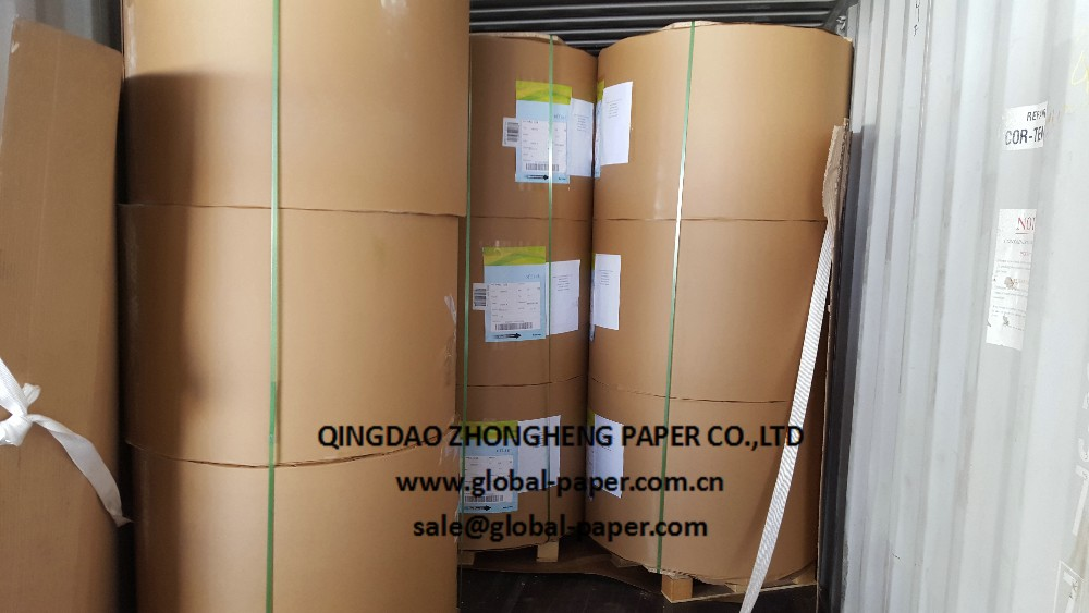 Roll Or Sheet 70gsm Customized Size Woodfree Offset Paper