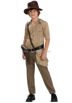 cd876bbc6f7ad Moda Indiana Jones Traje Niños De Halloween Qbc-6069 - Buy Ropa ...