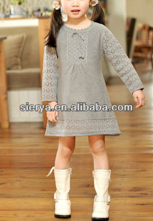 b8afb0bc8b52d3 Girl s Dress Knitted Sweater