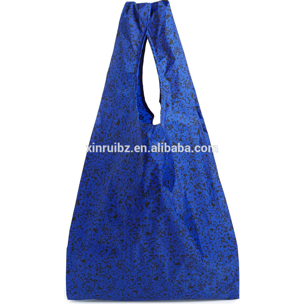 Eco-friendly wholesale heavy duty promotional shopper top quality nylon folding bag