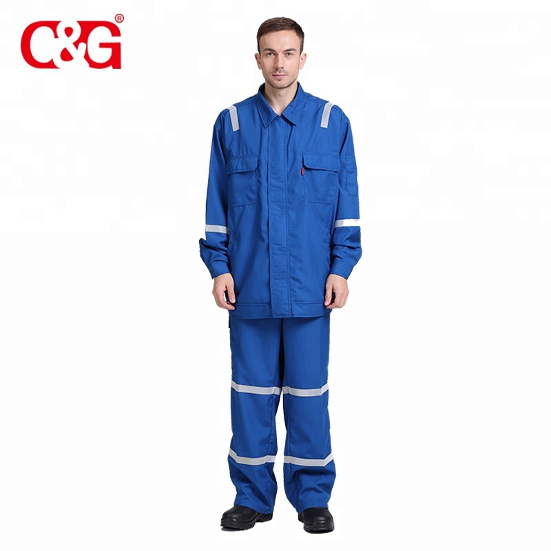 Lightweight anti static flame retardant overalls