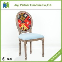 romantic wedding date dining chairs with custom pattern (Jill)