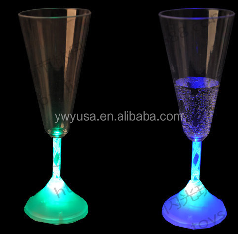 New led luminous glass glow creative cup