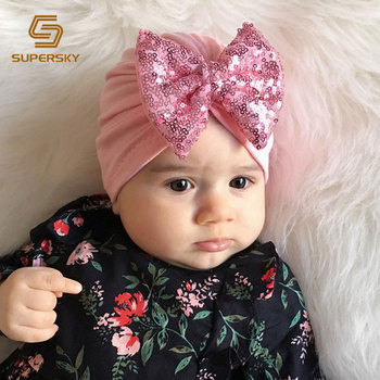 Bayi Terbaik Simpul Turban Topi Bayi Baru Lahir Perempuan Topi Bayi Sorban  Topi c68edbc537