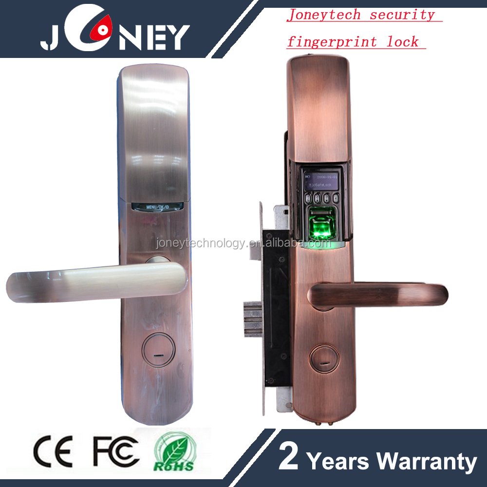 JYF-L9000 Biometric fingerprint lock for door entry with fingerprint password,key