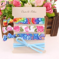 Promotional colored fold over foe elastic band hair