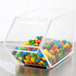 wholesale Clear acrylic supermarket candy dispenser box