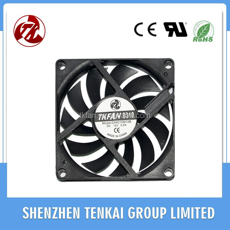 Manufacturer wholesale 80x80x10mm dc 12v axial fan 8010 Welding Machine Cooling Fan