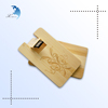 Promotional custom logo wooden bussiness card usb flash drive
