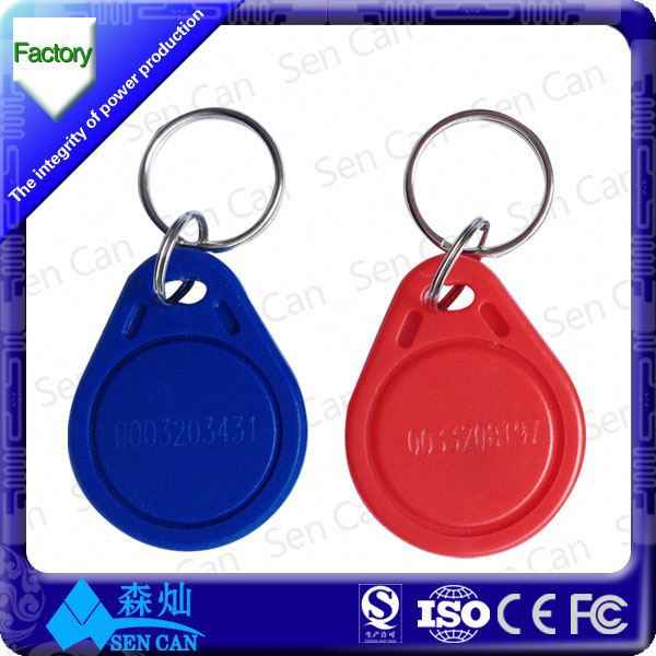 ABS TK4100 RFID key rings for identification of product