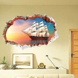 Removable Pirate Ship Wall Decal Extra Large Hole In The Wall Pirate Ship Wall Decal